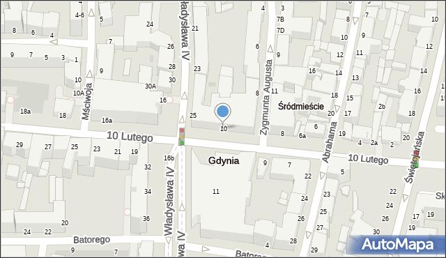 Gdynia, 10 Lutego, 10, mapa Gdyni