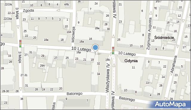 Gdynia, 10 Lutego, 16c, mapa Gdyni