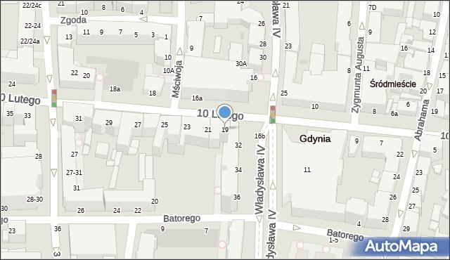 Gdynia, 10 Lutego, 19, mapa Gdyni