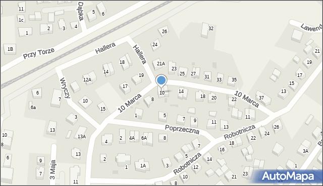 Luzino, 10 Marca, 10, mapa Luzino