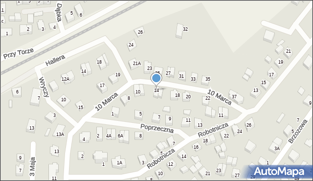 Luzino, 10 Marca, 14, mapa Luzino