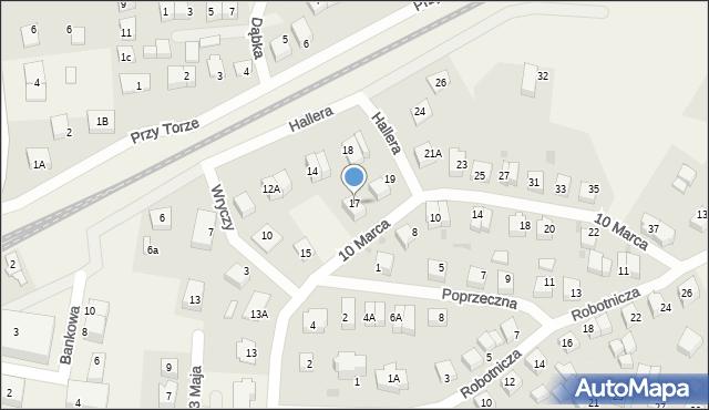 Luzino, 10 Marca, 17, mapa Luzino