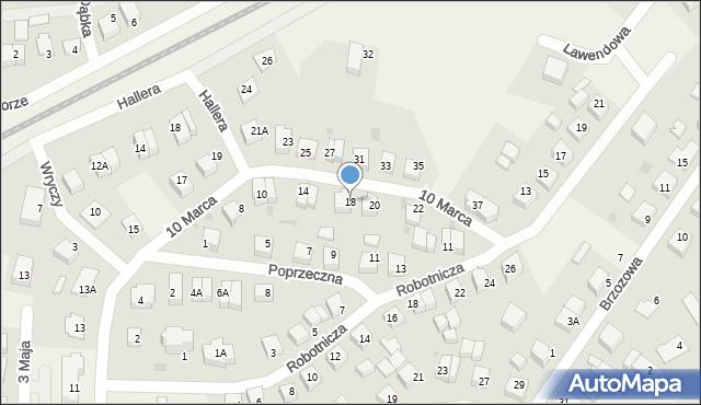 Luzino, 10 Marca, 18, mapa Luzino
