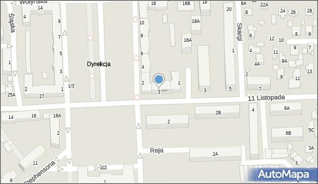 Chełm, 11 Listopada, 1, mapa Chełma