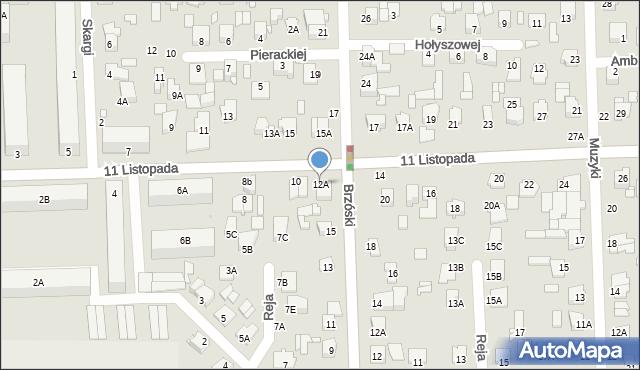 Chełm, 11 Listopada, 12A, mapa Chełma