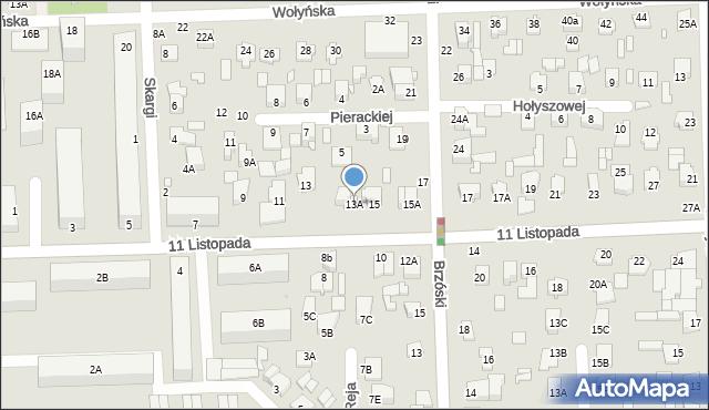 Chełm, 11 Listopada, 13A, mapa Chełma