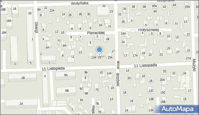 Chełm, 11 Listopada, 15, mapa Chełma