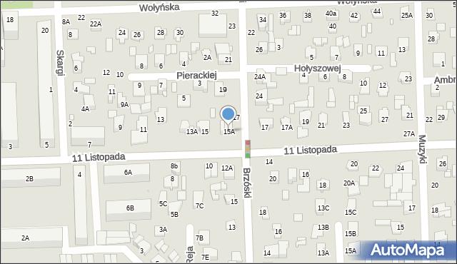 Chełm, 11 Listopada, 15A, mapa Chełma