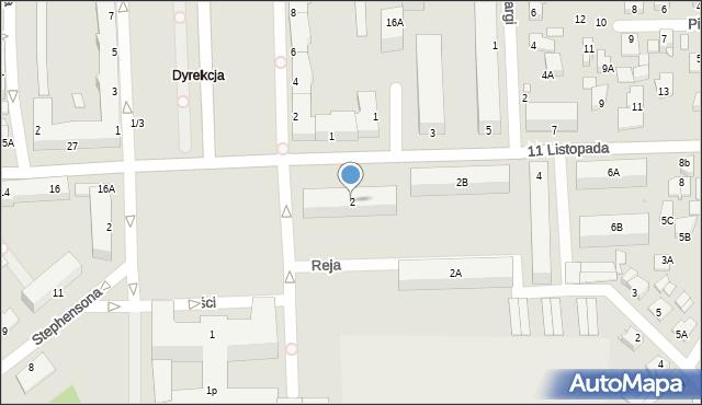 Chełm, 11 Listopada, 2, mapa Chełma