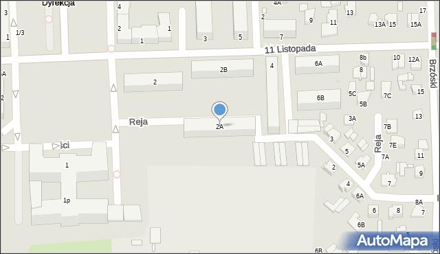Chełm, 11 Listopada, 2A, mapa Chełma