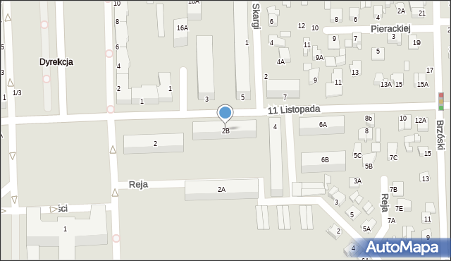 Chełm, 11 Listopada, 2B, mapa Chełma