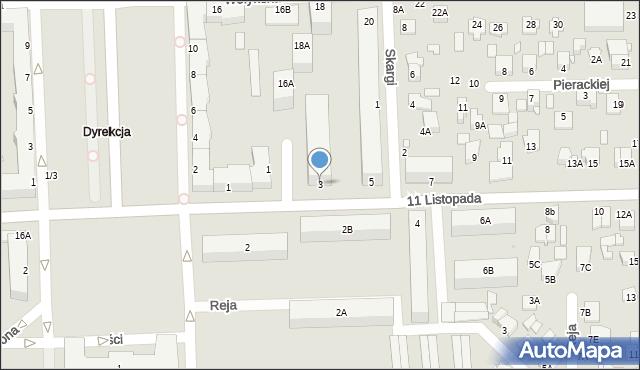 Chełm, 11 Listopada, 3, mapa Chełma