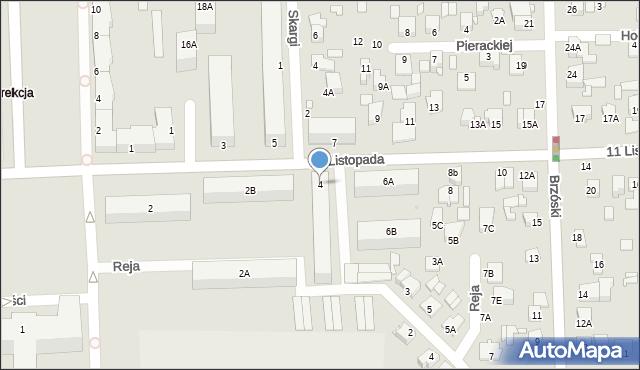 Chełm, 11 Listopada, 4, mapa Chełma