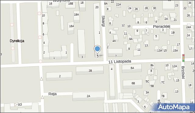 Chełm, 11 Listopada, 5, mapa Chełma