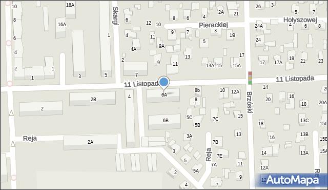 Chełm, 11 Listopada, 6A, mapa Chełma