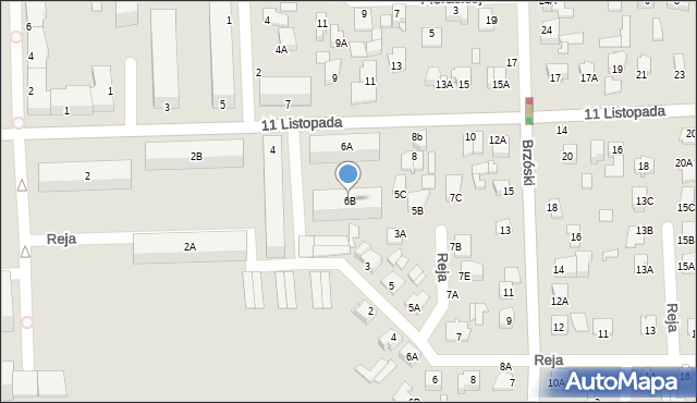 Chełm, 11 Listopada, 6B, mapa Chełma
