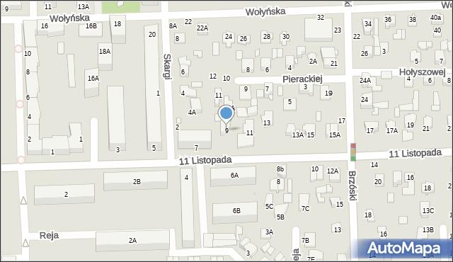 Chełm, 11 Listopada, 9, mapa Chełma