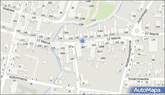 Wejherowo, 12 Marca, 195, mapa Wejherowo