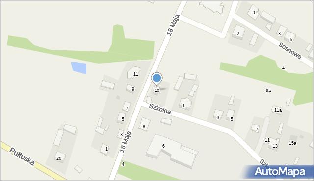 Pniewo, 18 Maja, 10, mapa Pniewo