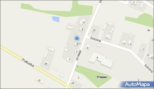 Pniewo, 18 Maja, 5, mapa Pniewo