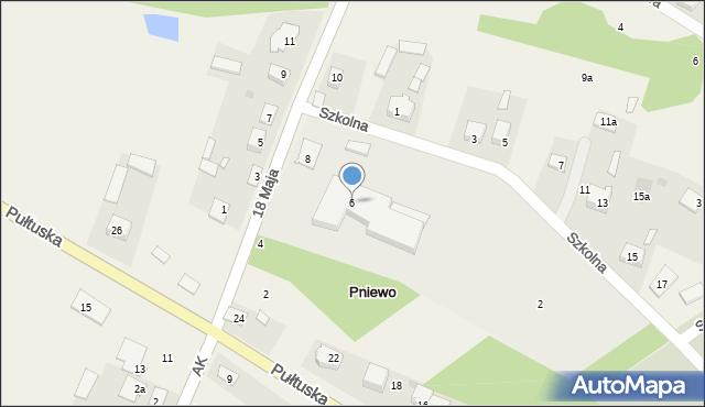 Pniewo, 18 Maja, 6, mapa Pniewo