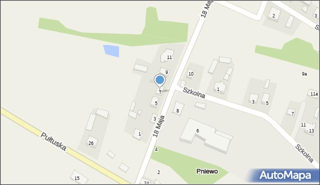 Pniewo, 18 Maja, 7, mapa Pniewo
