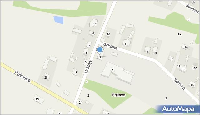 Pniewo, 18 Maja, 8, mapa Pniewo