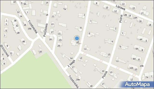 Chocianów, 1 Maja, 12, mapa Chocianów