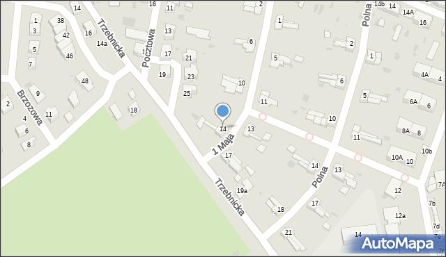 Chocianów, 1 Maja, 14, mapa Chocianów