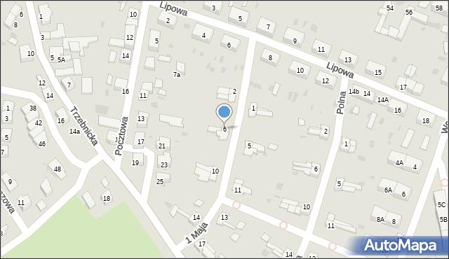 Chocianów, 1 Maja, 6, mapa Chocianów