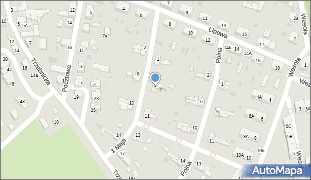 Chocianów, 1 Maja, 7, mapa Chocianów