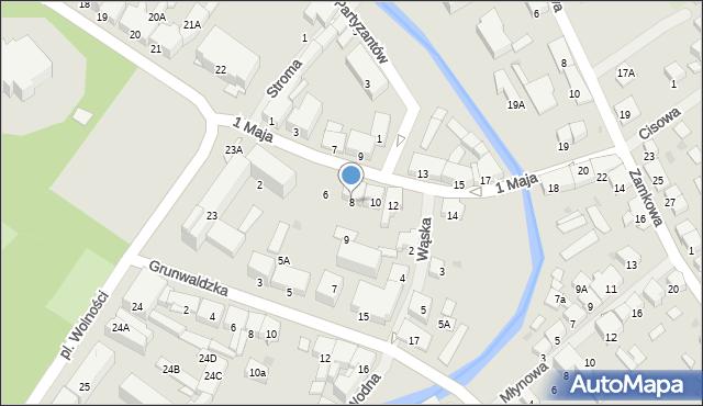 Olecko, 1 Maja, 8, mapa Olecko