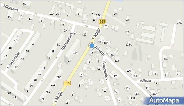 Ruda Śląska, 1 Maja, 16, mapa Rudy Śląskiej