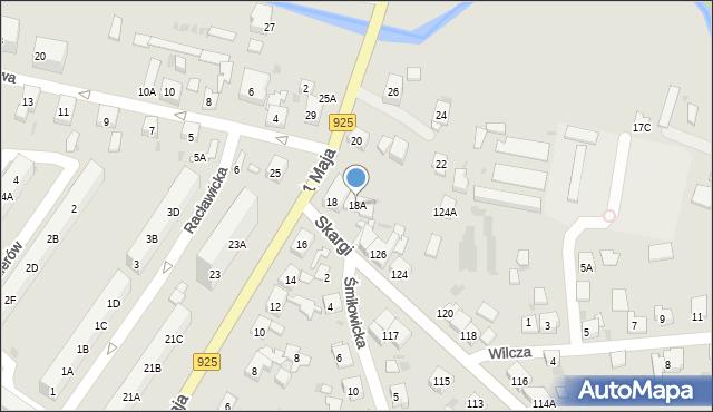 Ruda Śląska, 1 Maja, 18A, mapa Rudy Śląskiej