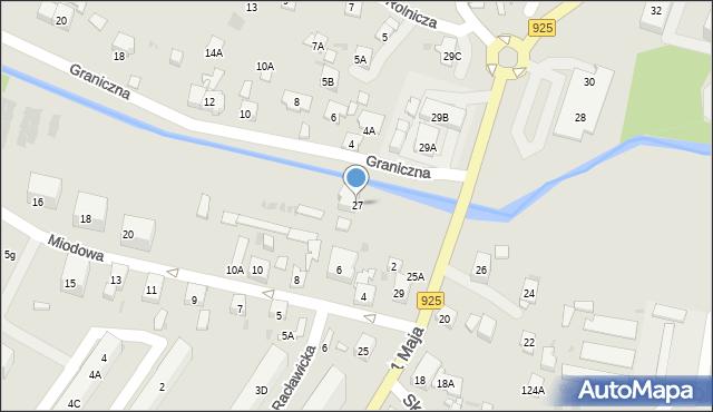 Ruda Śląska, 1 Maja, 27, mapa Rudy Śląskiej