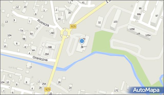 Ruda Śląska, 1 Maja, 28, mapa Rudy Śląskiej