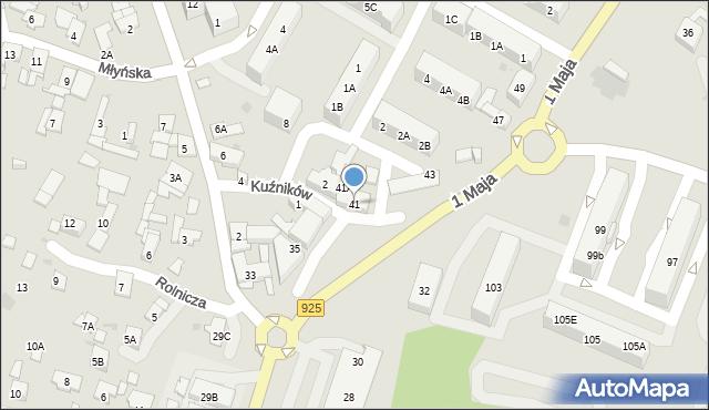 Ruda Śląska, 1 Maja, 41, mapa Rudy Śląskiej