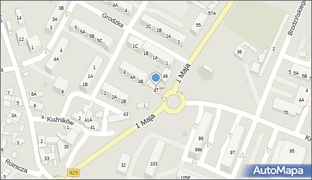 Ruda Śląska, 1 Maja, 47, mapa Rudy Śląskiej
