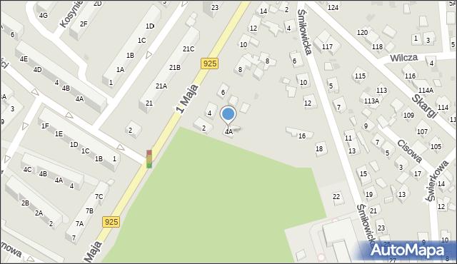 Ruda Śląska, 1 Maja, 4A, mapa Rudy Śląskiej