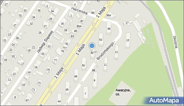Ruda Śląska, 1 Maja, 52, mapa Rudy Śląskiej