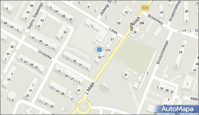 Ruda Śląska, 1 Maja, 55, mapa Rudy Śląskiej