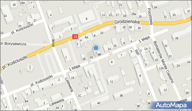 Sokółka, 1 Maja, 22, mapa Sokółka