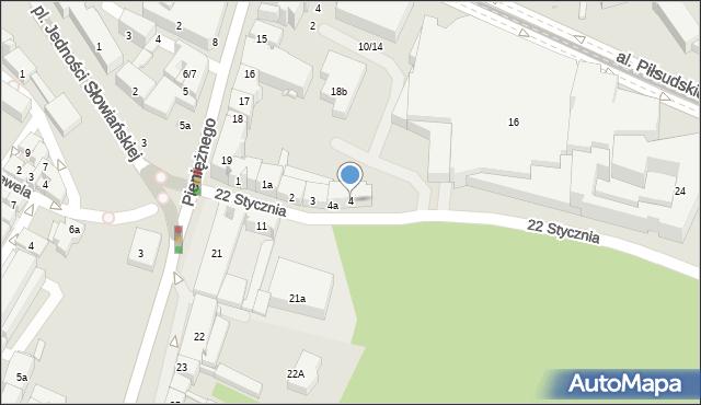 Olsztyn, 22 Stycznia, 4, mapa Olsztyna