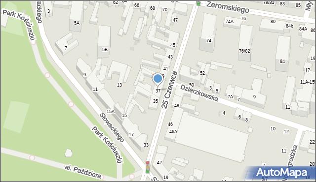 Radom, 25 Czerwca, 37, mapa Radomia