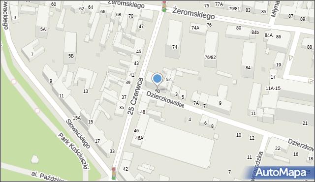 Radom, 25 Czerwca, 50, mapa Radomia