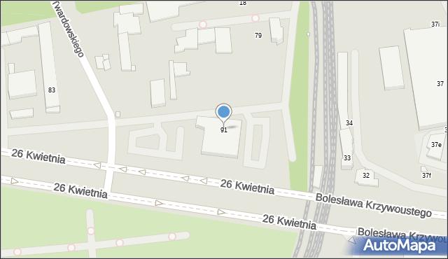Szczecin, 26 Kwietnia, 91, mapa Szczecina