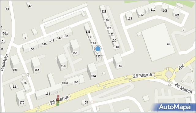 Wodzisław Śląski, 26 Marca, 130, mapa Wodzisławia Śląskiego
