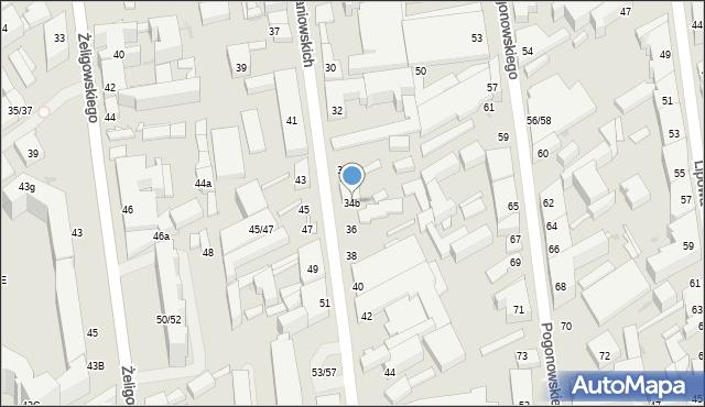 Łódź, 28 Pułku Strzelców Kaniowskich, 34b, mapa Łodzi