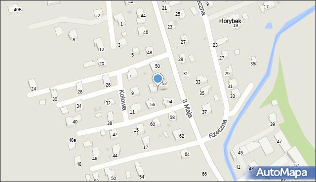 Brzozów, 3 Maja, 52a, mapa Brzozów