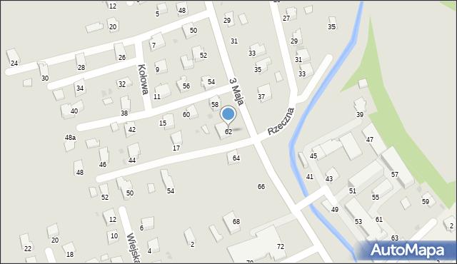 Brzozów, 3 Maja, 62, mapa Brzozów
